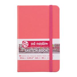 Talens art creation Brush / Schetsboek 9 x 14 cm - 80 vellen - Coral Red