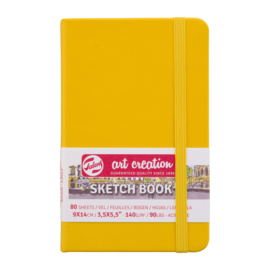 Talens art creation Brush / Schetsboek 9 x 14 cm - 80 vellen - Golden Yellow