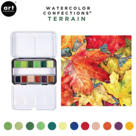 Prima Marketing Confections Aquarelverf Terrain - set van 12 kleuren
