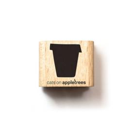 Cats on Appletrees - Houten stempel - 15x15mm - Plant Pot