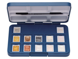Van Gogh aquarelverf - Pocketbox 12 napjes - Metallic & Interference colours