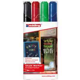 Edding 4095-4 Raam/krijtstift - rond 2-3 mm - set van 4