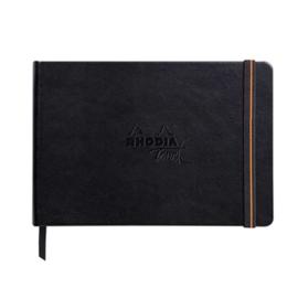 Rhodia Touch Carb'on book papier A5 Landscape - 112 pagina's - 120 grams Zwart
