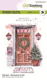 CraftEmotions clearstamps A6 - Oude deur - Decoration X-mas - Carla Kamphuis