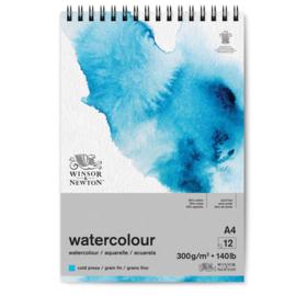 Winsor & Newton Aquarelpapier ringband A4 - cold pressed - 300 grams - 12 vellen