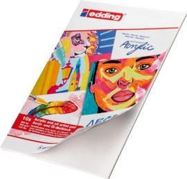 Edding acryl- en olieverf schilderblokken - 10 vellen - A3