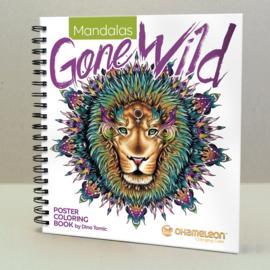 Chameleon Poster Coloring Book 25,4 x 20,3 cm - Mandalas Gone Wild