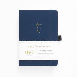 Archer & Olive bulletjournal/Notitieboek A5 - 160 pagina's - Dotted - Stardust met gouden rand