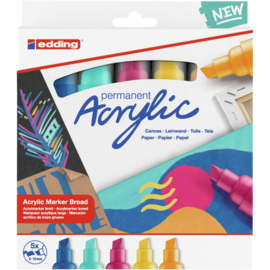 Edding 5000 Acrylmarker breed 5-10mm  - Abstract - set van 5