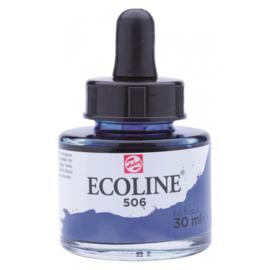 Talens Ecoline Vloeibare waterverf 30 ml - 506 ultramarijn donker