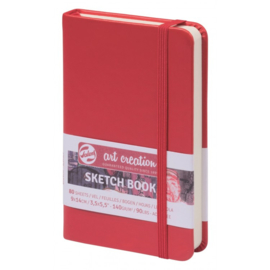 Talens art creation Brush / Schetsboek 9 x 14 cm  - 80 vellen - Rood