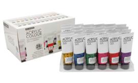 Art Rangers acrylverf Neon, Glitter en Metallic kleuren - set van 24