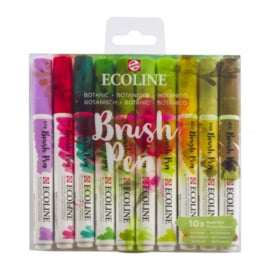 Talens Ecoline Brush Pen - set van 10 - Botanisch