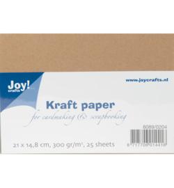 Joy Crafts Kraft papier A5 - 25 stuks - 300 gram - Kraft