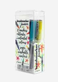 Karin Brushmarker Junior Basic colours + Blender - set van 12