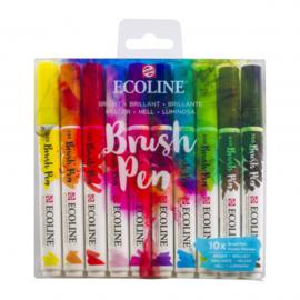 Talens Ecoline Brush Pen - set van 10 - Helder