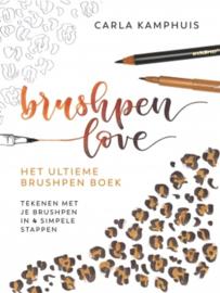 BRUSHPEN LOVE - Het ultieme Brushpenboek - tekenen met je Brushpen - Carla Kamphuis