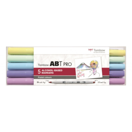 Tombow ABT PRO Alcohol based markers - Pastel colours - set van 5