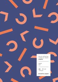 CKREATIVE Brushlettering & Teken blok A4 - 30 vellen 120 grams - by Carla Kamphuis