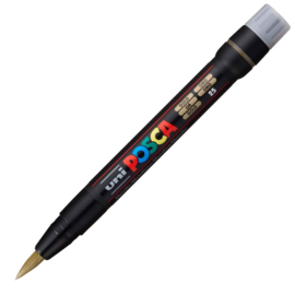 Uni Posca Paint Marker Brush pen PCF-350 - Goud