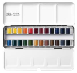 Winsor & Newton Professional - Aquarelverf set van 24 kleuren