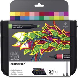 Winsor & Newton promarkers Student Designer - set van 24 in etui