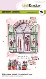 CraftEmotions clearstamps A6 - Oud raam met toog - Decoration X-mas - Carla Kamphuis
