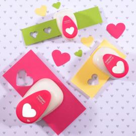 Vaessen Creative -  Figuurpons set hartjes - set van 3