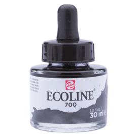 Talens Ecoline Vloeibare waterverf 30 ml - 700 zwart