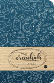 Creachick Journal A5 - 224 pagina's crème wit - Dotted - Petrolblauw