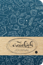 Creachick Journal A5 - 224 pagina's crème wit - Dotted - Petrolblauw