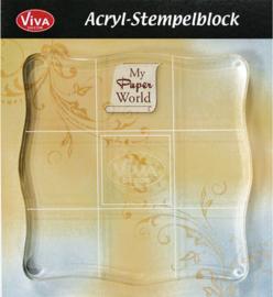Viva Acrylic Stempelblok transparant 10 x 10 cm