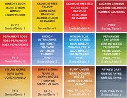 Winsor & Newton Professional Water Colours tubes in metalen blik - set van 12