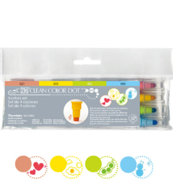 Zig Clean Color Dot stiften - set van 4