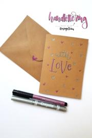 A6 Joy Crafts dubbele kaarten & enveloppen - kraft papier - set  van 50