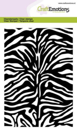 CraftEmotions clearstamps A6 - tijger-zebra print