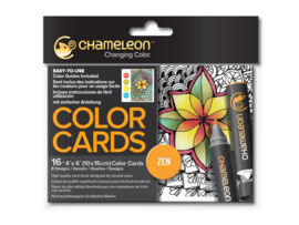 Chameleon Color Cards - Zen Doodles 10 x 15 cm - set van 16