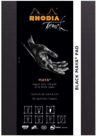 Rhodia Touch Maya Pad Black A5 - 50 vellen - 120 grams zwart papier