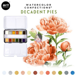 Prima Marketing Confections Aquarelverf Decadent pies - set van 12 kleuren