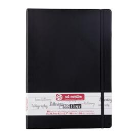 Talens art creation notitieboek / journal A4 portret - 80 vellen Crème wit - Dotted - Zwart