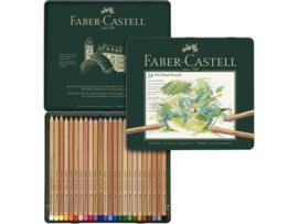 Pastelpotlood Faber Castell pastel metalen blik - set van 24