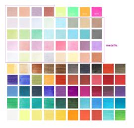 Paintersisters Aquarelverf  - set van 90 kleuren -inclusief Metallic en Neon kleuren