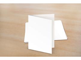 A6 dubbele blanco kaarten 105 x 150 mm 275 gram  - 25 stuks - Wit