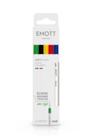 Uni Emott Fineliners - set van 5 - Vivid