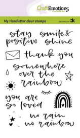 CraftEmotions clearstamps A6 - Handletter -  Rainbow 1 - Carla Kamphuis