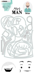Studio Light Clear Stamp & Die Cut A6 Karin Joan - Missees  man fancy Brian nr.13