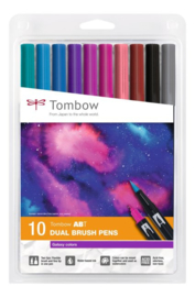 Tombow ABT Dual Brush Pen - set van 10 Galaxy