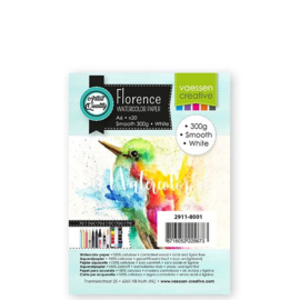 Florence Aquarelpapier smooth Intense White - 20 vellen 300 grams papier - A6