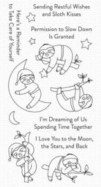 My Favorite Things clear stamps - set van 14 - Slumbering Sloths