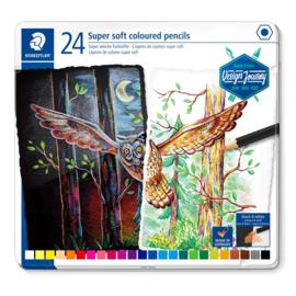 Staedtler Super soft potloden - set van 24 in metalen blik